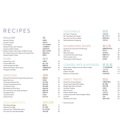 Cook with Olivia - Chinese Flavours 2021 Edition Recipe Index